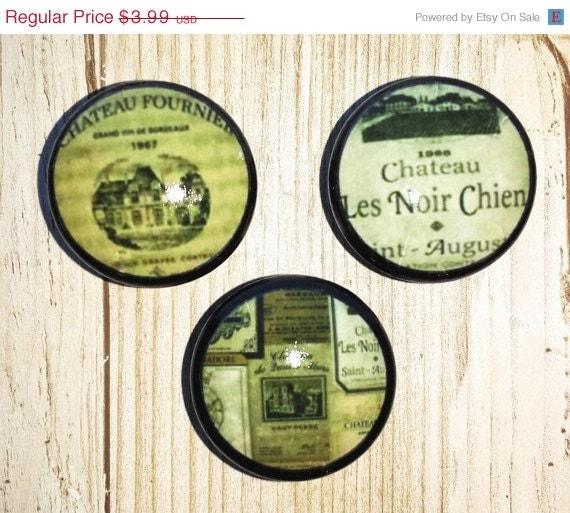 Wine Label Kitchen Cabinet Knobs Bottle By WallpaperYourWorld