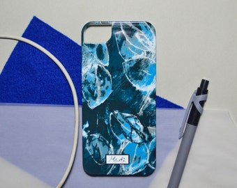 Blue Floral Pattern iPhone Hard Case