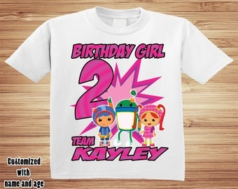 Team Umizoomi Birthday T Shirt - Personalized Custom -