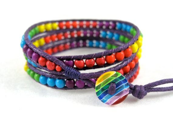 bracelet pride friendship Rainbow gay