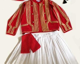 Red - Greek Costume - Boys Foustanella