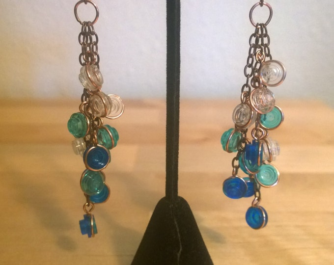 Cluster Earrings with LEGO Bricks
