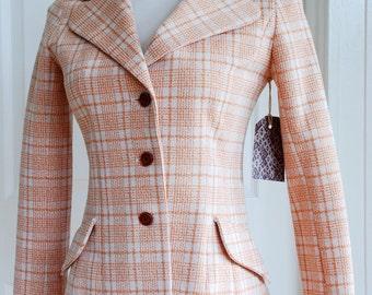 1970's Plaid Striped Blazer