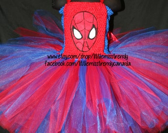 Spider Man Inspired Tutu Dress, Spider Girl Tutu Dress, Superhero tutu, Superhero Tutu Dress