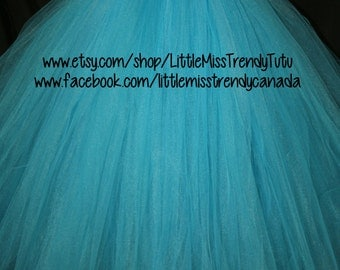 Turquoise and White Tutu Dress, Tutu Dress, Flower Girl Tutu Dress, Flower Girl,  Blue Tutu Dress, TurquoiseTutu Dress