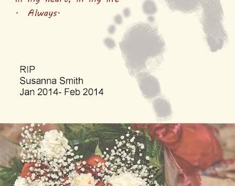 Baby Loss Memorial picture, digital memorial