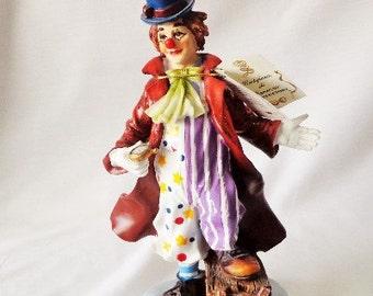 Beautiful Montefiori Clown Red Coat, Blue Hat