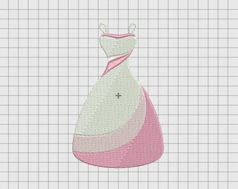 Fancy Dress Embroidery Design in 3x3 4x4 5x5 and 6x6 Sizes