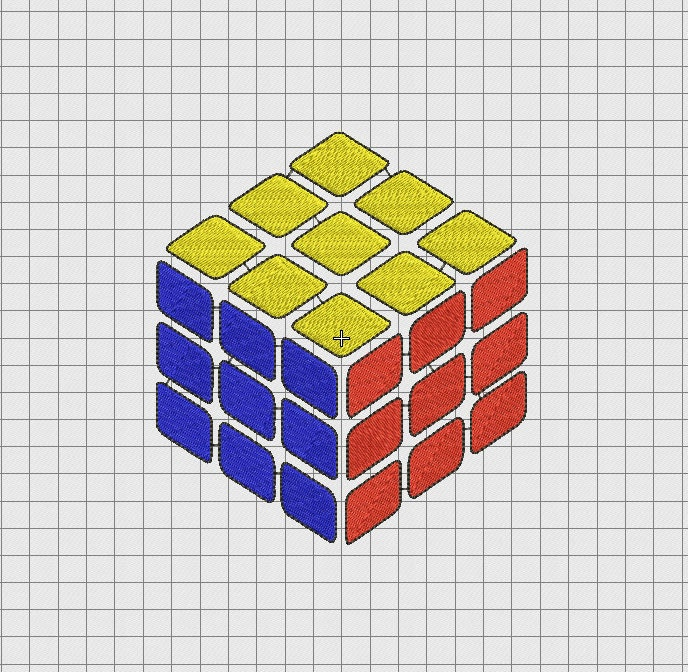 rubik 39 s cube puzzle embroidery design in 2x2 3x3 4x4 5x5. Black Bedroom Furniture Sets. Home Design Ideas