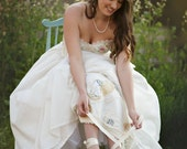 Vintage Embroidered Bridal Wedding Shoes, Storybook Romance Bridal Flat Shoe,Lace  Bridal Flat Shoe, Lace Bridal Shoe,Wedding Dance Shoe