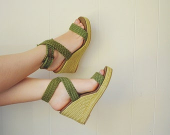 LIBBY Woven Wedge Sandals