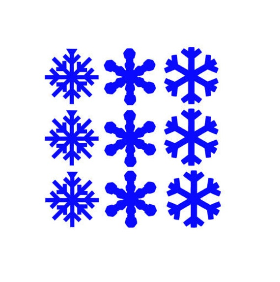 large snowflake decal christmas decorations by macccreations