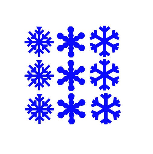 Large Snowflake Decal Christmas Decorations Winter Decal