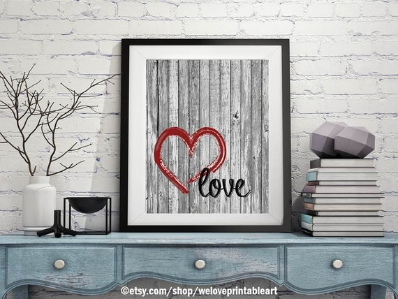 Barn Wood Rustic Love Poster