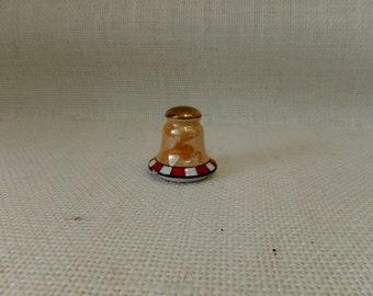 Solitary Japanese Lustreware Salt Shaker - Peach, White, Rust, Black
