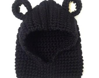 Custom Order Bear Cowl-Baby/toddler hooded bear cowl
