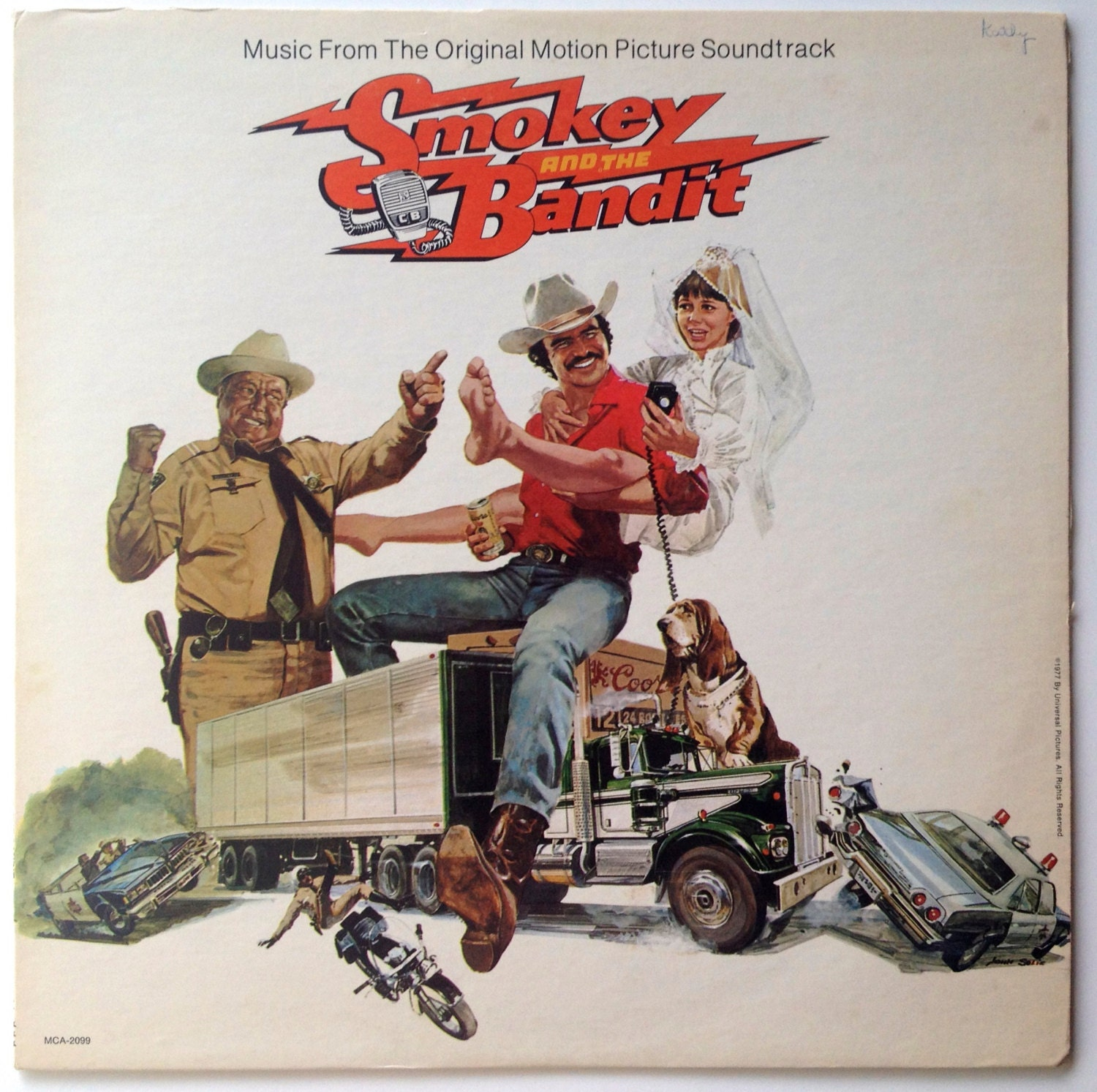 Smokey And The Bandit Soundtrack Lp Vinyl Record Album Mca
