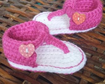 Crochet Gladiator Sandals --0-3Mo