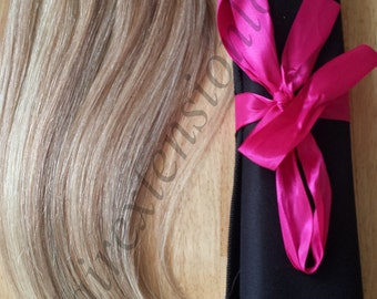 "16-18"" 100G Magic-HALO -Miracle Secret wire/ Easy-to-Install 100% Human Hair extensions/With HAIR EXTENSION Case/"