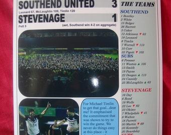 Southend United 3 Stevenage 1 - Southend at Wembley - 2015 - souvenir print