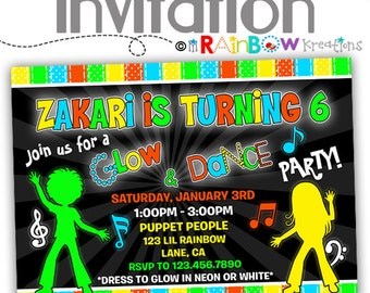 797: DIY - Glow In The Dark 4 Party Invitation Or Thank You Card