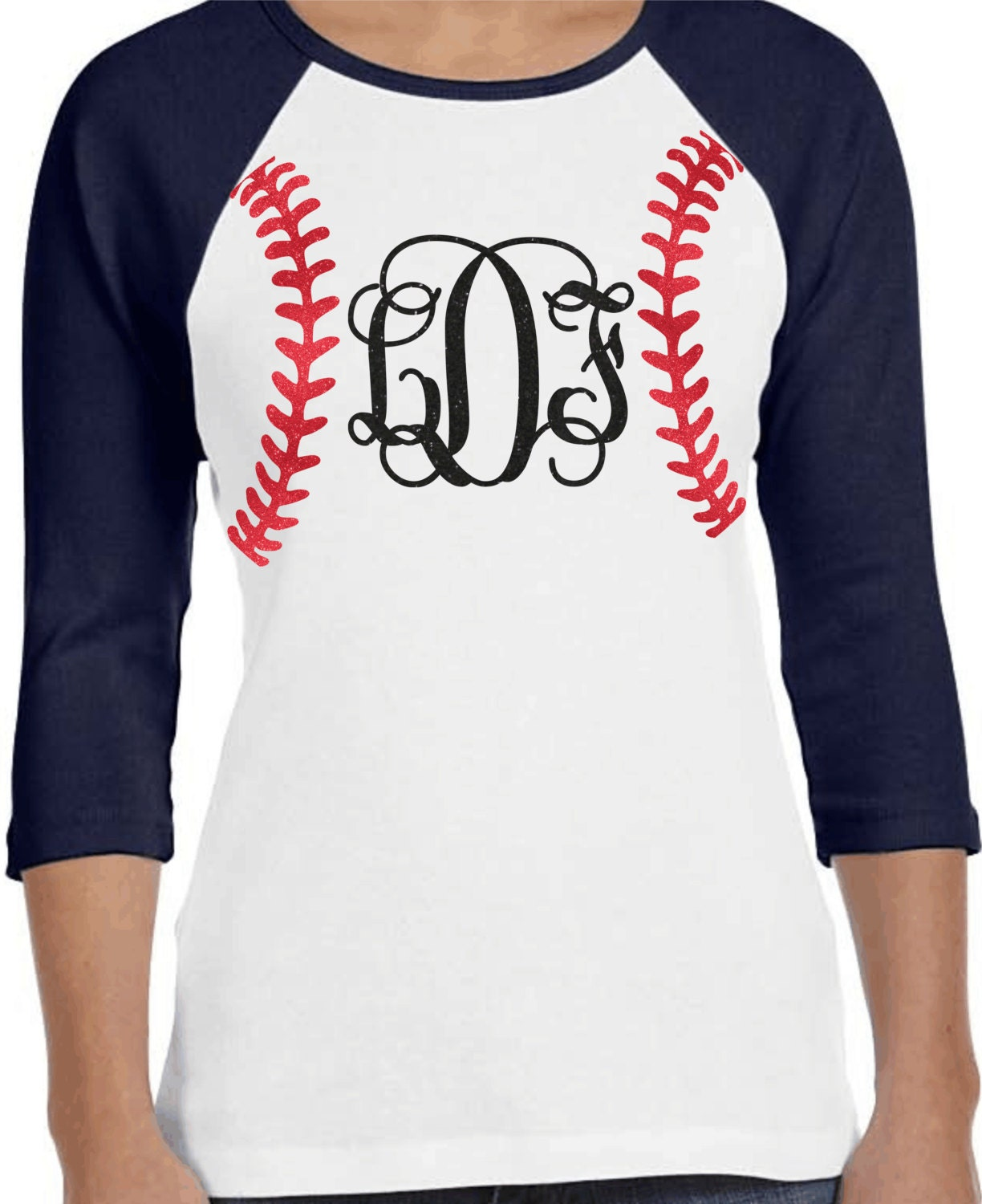 Baseball monogram raglan shirt custom baseball shirt bling Designer baseball shirts