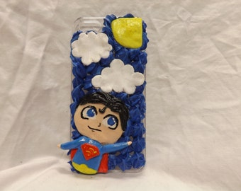 Handmade Superman Decoden iPhone 5/5s case