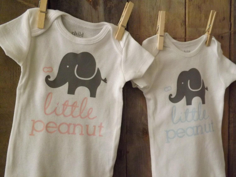 cd7223942b23 Little Peanut Elephant Onesie by BurlapAndYarn on Etsy