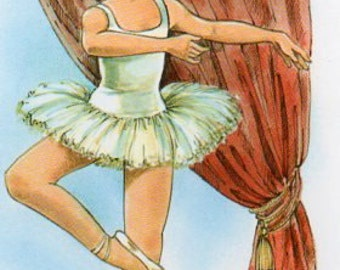 Vintage  Postcard Mary May Ballet Ballerina girl