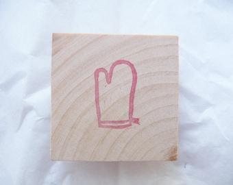 Potholder hand carved rubber stamp