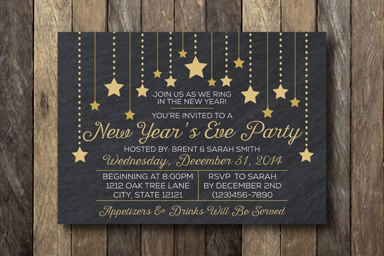 New Year's Eve Party Invitation New Year's by ...