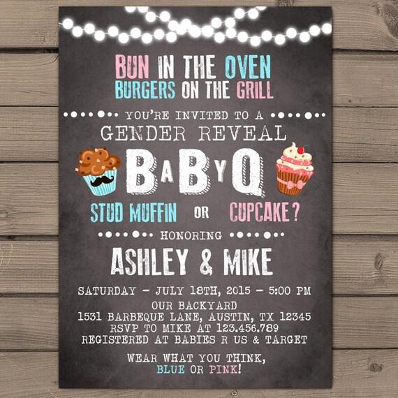 baby q invitation coed baby shower invite bbq invitation, Baby shower invitations