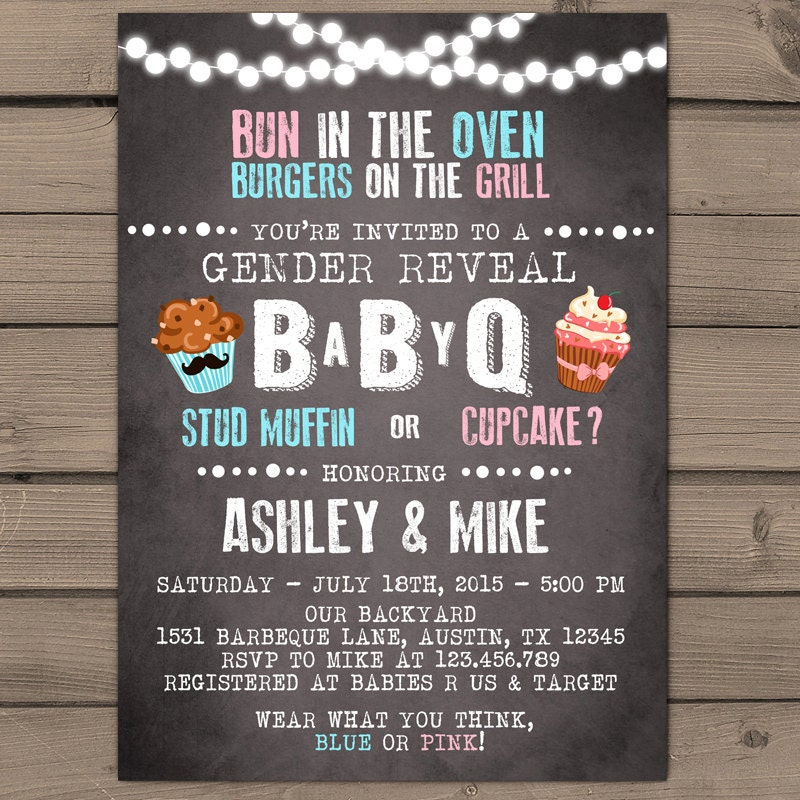 baby q invitation coed baby shower invite bbq invitation