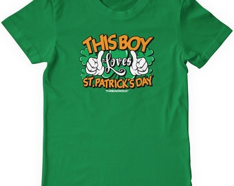 This Boy Loves St. Patrick's Day Boys' Youth T-shirt
