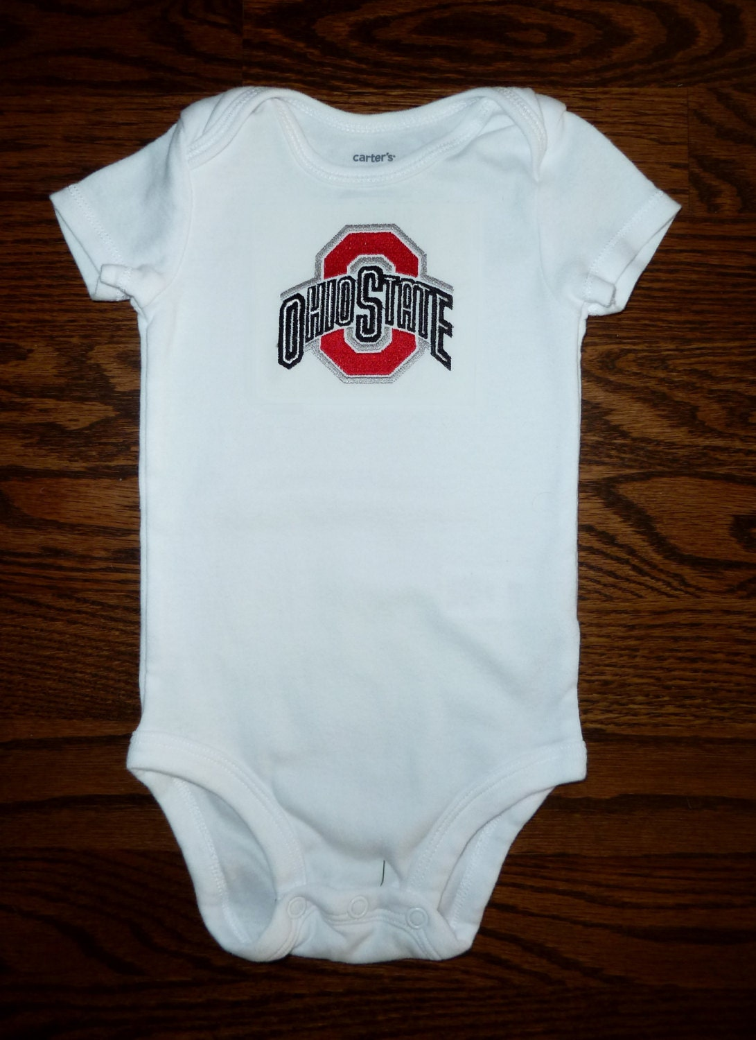 Embroidered Baby Onesie Ohio State University By Lulupoprox