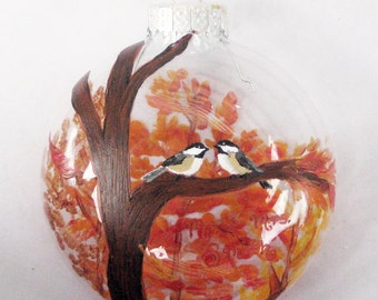 Handpainted Custom Glass Ornament, Personalized