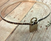 Wild Flower Daytime Locking Submissive Collar, slave collar, Restraining Collar, BDSM Collar, Made to Order 8838