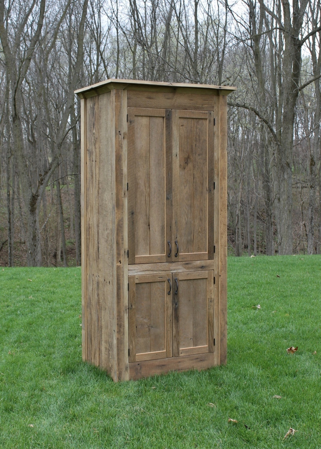 Rustic Linen Cabinet Reclaimed Barn Wood Unfinished 9908