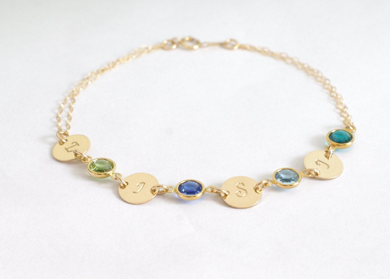 bracelet personalized bracelet name and birthstone