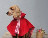 Little Red Riding Hood Dog Costume Cape, Fairy tale dog clothing