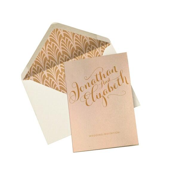 Wedding Invitation Blush Mint Marsala Purple By PaperWillowDesign