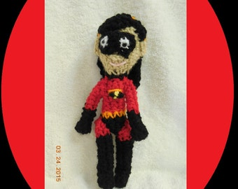 Crochet Superhero Doll Inspired By Violet From Pixar Incredibles