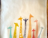 Flour Sack Kitchen Towel Giraffe