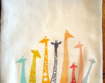 Flour Sack Kitchen Towel Giraffe