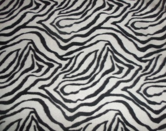 Black and White Zebra Print Fleece Throw and Pillow Set