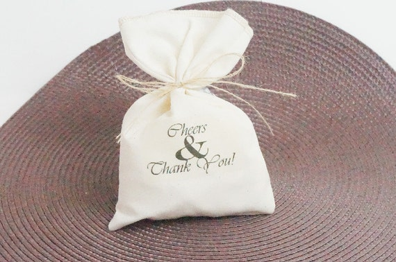 Wedding Favor Muslin Bags : SALE Wedding Favor Bag, Muslin Bag, Thank You Favor Bag, Fabric Bag ...