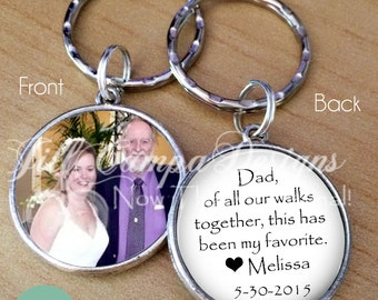 """FATHER of the BRIDE GIFT - """"Dad, of all our walks together, this has been my favorite"""" - Your Photo on one side"""