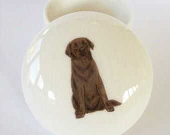 Small Chocolate Labrador Trinket Box