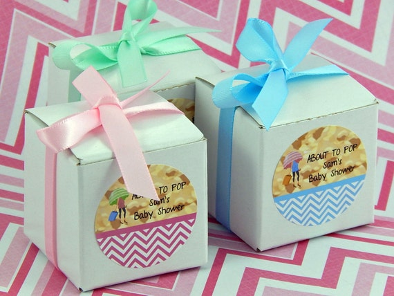 Baby Shower Favors About To Pop ~ Ready to pop baby shower favor boxes about by