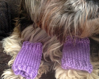 Dog or Cat Leg Warmers - Custom-knit and sized for your pet with your color choice - you provide measurements for a custom fit